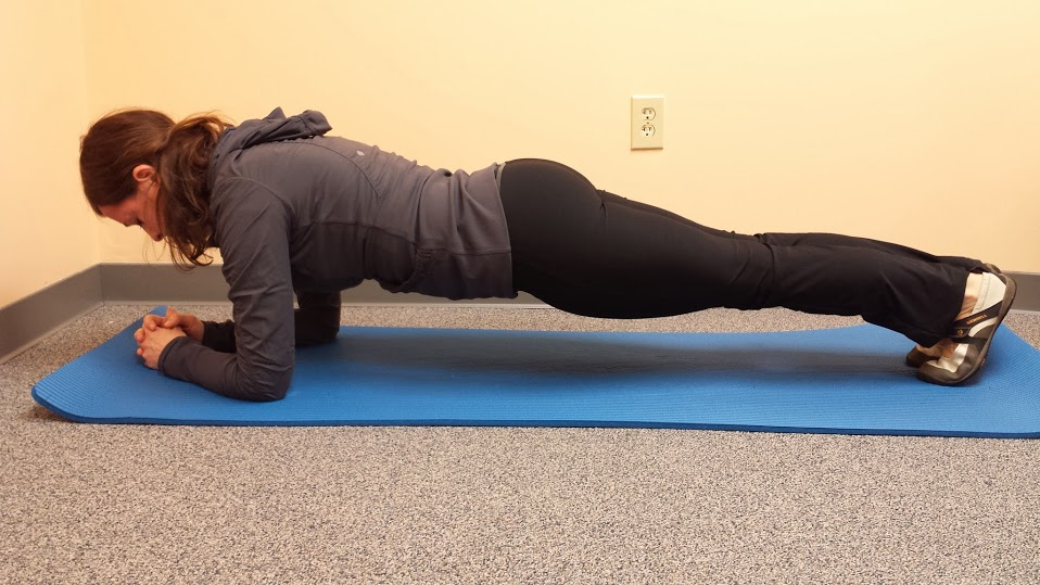 Plank on Forearms and Toes